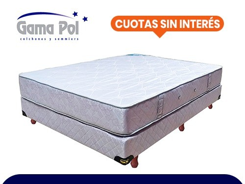 Sommier y Colchón King Size (200x200 ) Sleep Time Pocket Gamapol