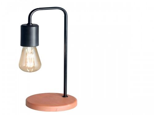 Lámpara de mesa diseño industrial en madera paraíso