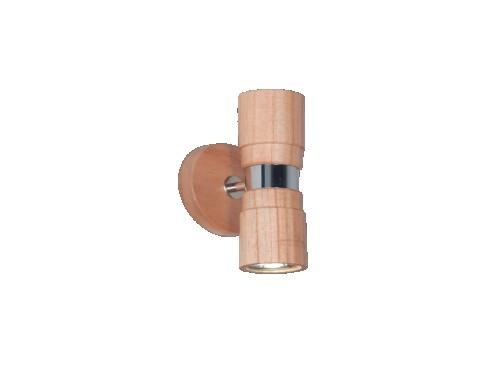 Aplique bidireccional madera paraíso combinado platil
