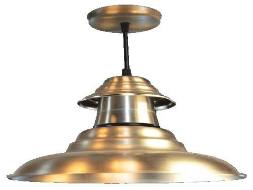 Lámpara Colgante galponera campana de Chapa de 3 Piezas