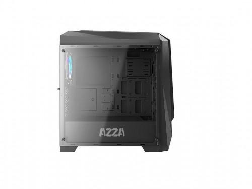 Gabinete Gamer Azza 410B Chrome Prisma Mid Atx Vidrio Templado