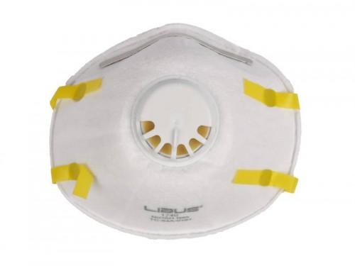 Respirador LIBUS N95 con válvula -1740 Pack por 10 unidades