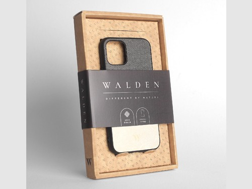 Funda Walden® Tejido Cuero iPhone 11 / 11 Pro X Xr Xs Max 6 7 8 Plus