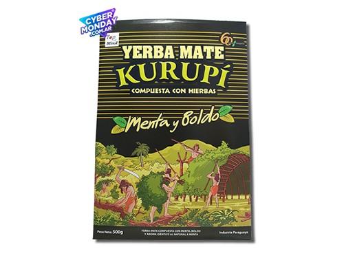 Yerba Mate Kurupí Compuesta Menta y Boldo 500Gr