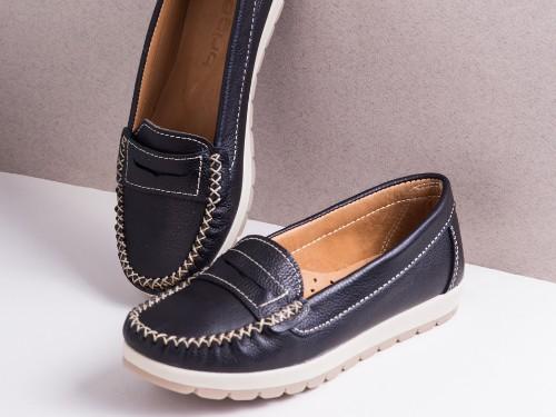 Mocasín Mujer Cuero Briganti Zapato Negro Casual Goma Moda Vestir