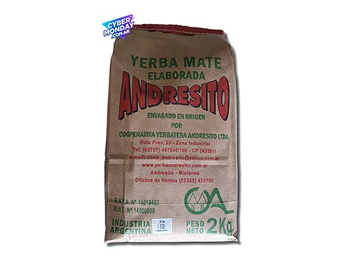 Yerba Mate Andresito Tradicional 2Kg
