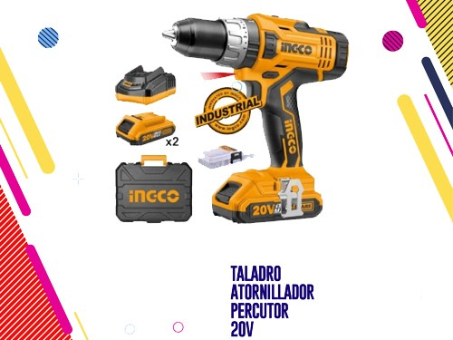 Ingco Taladro Atornillador Percutor 20v 13mm