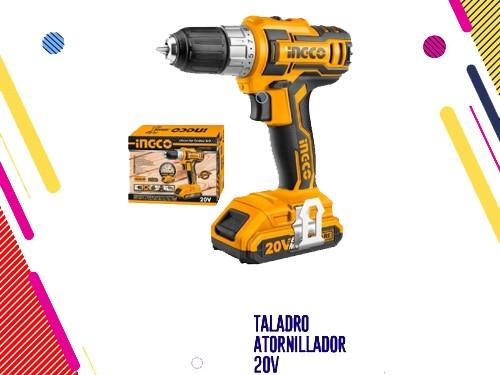 Ingco Taladro Atornillador 20v (incluye Bateria + Cargador)