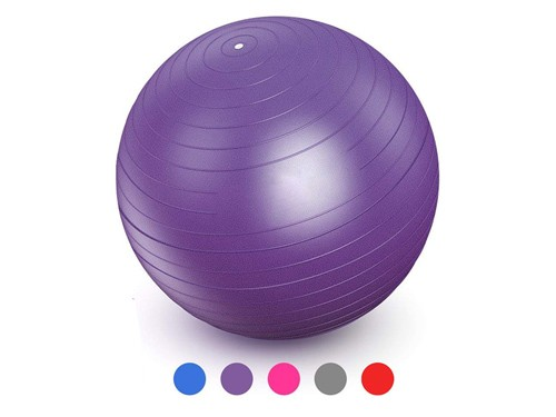 Pelota Inflable Para Yoga Y Pilates De 65 Cm Colores Aleatorios