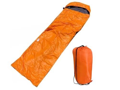 Bolsa De Dormir Rectangular Para Adultos Color Naranja Con Bolso