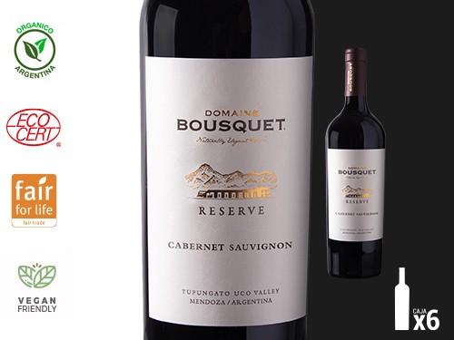 Vino Cabernet Sauvignon Organico Reserve 6x750 ml. Domaine Bousquet