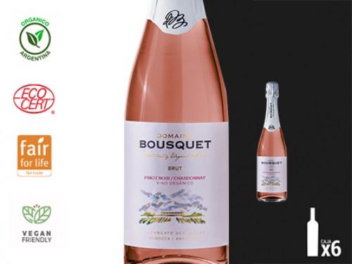 Vino Espumante Charmat Rose Brut Organico 6x750 ml. Domaine Bousquet