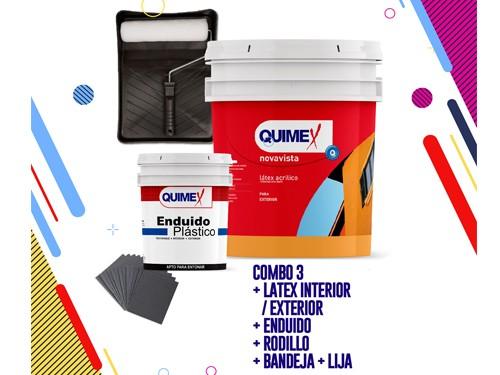 Combo Latex Profesional Exterior Quimex