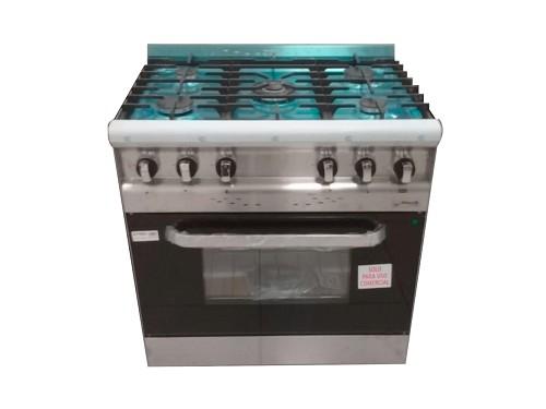 Cocina MORELLI ACERO 82CM 5 Hornallas - Multigas
