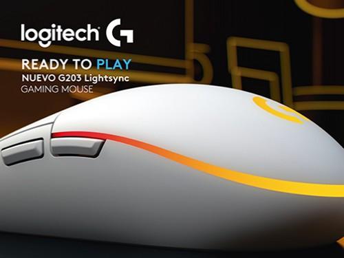 Mouse Logitech G203 Lightsync Blanco