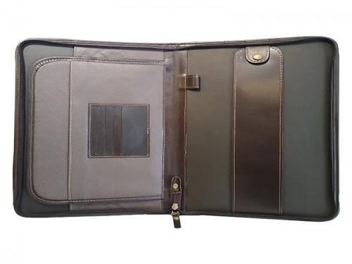 Porta Papeles Carpeta Cuero Oficio Cierre Bolsillo Interno