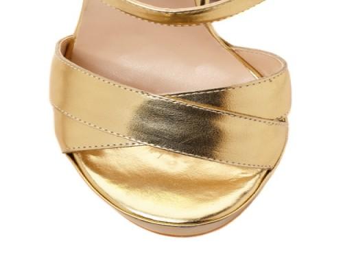 Sandalia color oro THE BAG BELT