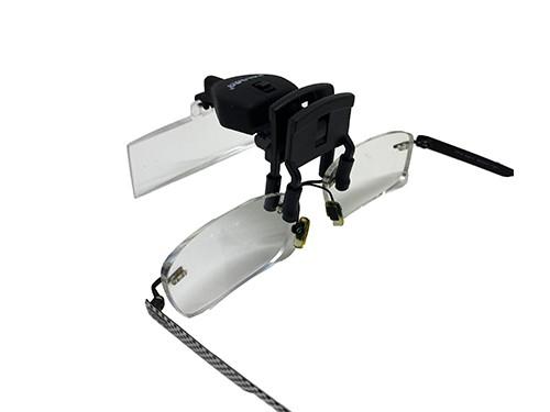 Lupa para sujetar anteojos con luz led Galileo