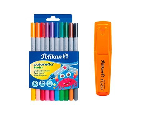 Marcadores Pelikan Colorella Twin (doble punta) + regalo