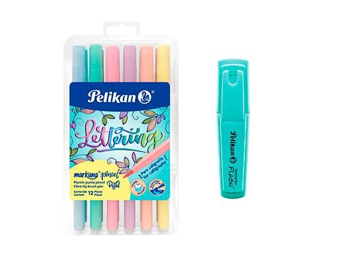 Marcadores Pelikan Markana Punta Pincel Pastel (lettering) + regalo