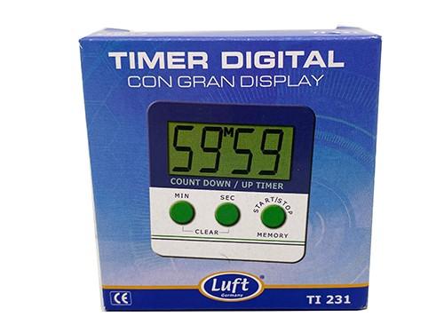 Timer digital con gran display para cocina Luft