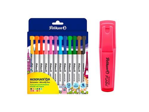 Micropuntas Pelikan colores surtidos 12 u + regalo