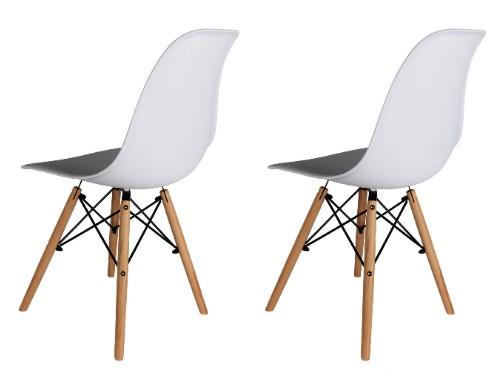 Sillas Eames x2 Blancas Nordica De Comedor Living Moderna - Home Kong