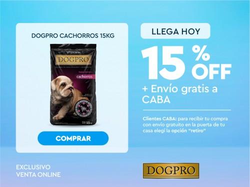Alimento balanceado Premium DOGPRO cachorros x 15 kg