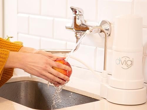 Purificador de agua Sobre Mesada Dvigi Clásico Blanco + 2 repuestos