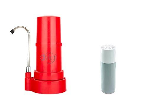 Purificador Sobre mesada Dvigi Clásico Rojo + 1 repuesto