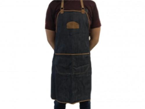 Delantal Cocina Jean y gamuza Unisex Asador parrilla