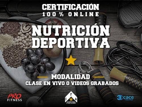 Curso OnLine en Nutrición Deportiva o Armado de Dieta 63%OFF