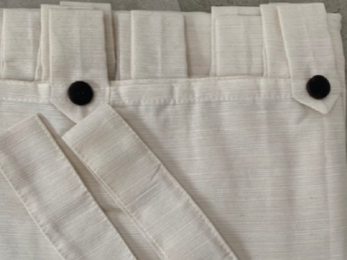 Cortinas ambiente crudo tela rústica y pesada dos paños 145x210cm