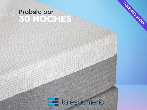 Colchón y Sommier Híbrido ROCK 140X190 (Espuma y Resortes)