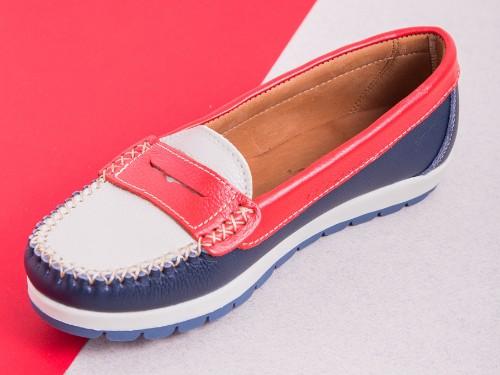 Mocasin Cuero Mujer Briganti Zapato Zapatos Vestir Goma Moda Chatita