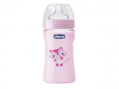 Mamadera 250ml Wellbeing Flujo medio 2m+ BPA free Chicco