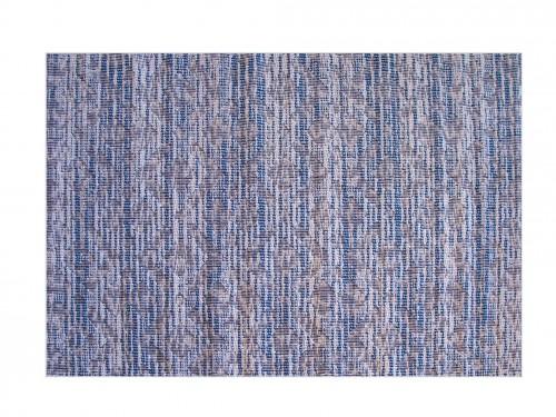 Alfombra Living Moderna Pelo Corto Tonos Azules 100% Polipropileno