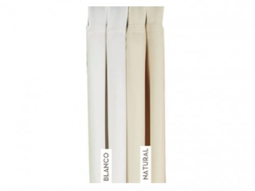 Cortinas ambiente blanca/beige Tela tropic style 2 paños 145x210cm