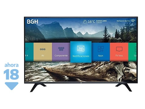 "SMART TV LED 50"" 4K BGH B5018UH6"
