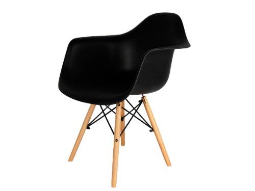 Sillon Eames x1 Negro Nordico Moderno De Comedor - Home Kong