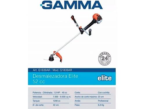 Desmalezadora Gamma Elite 55cc G1839AR+Accesorios