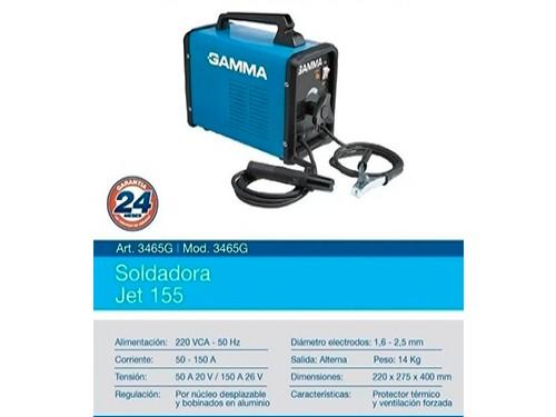 Soldadora Electrica Gamma Maquina De Soldar 220v 150 Amp