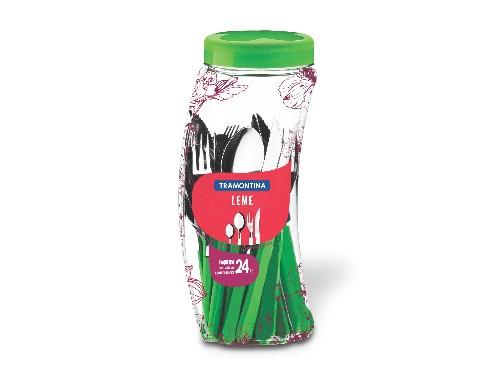 Juego de cubiertos Leme Acero Inox Mango Plástico 24 pzas Tramontina