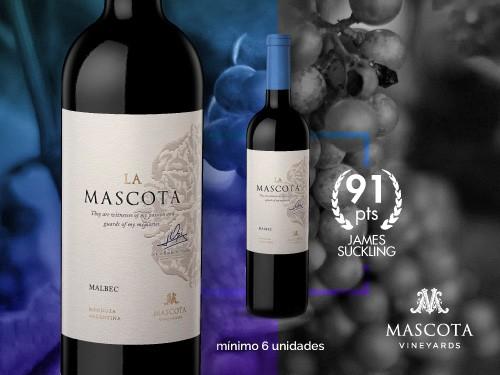 Vino tinto - La Mascota Malbec 750ml. - Mascota Vineyards