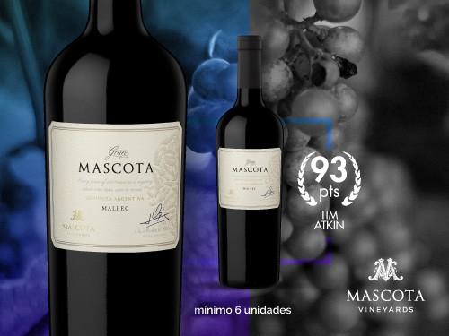 Vino tinto - Gran Mascota Malbec 750 ml. - Mascota Vineyards
