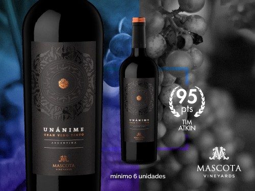Vino tinto - Unánime Blend 750 ml. - Mascota Vineyards