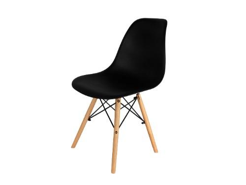 Sillas Eames x2 Negras Nordica De Comedor Living Moderna - Home Kong