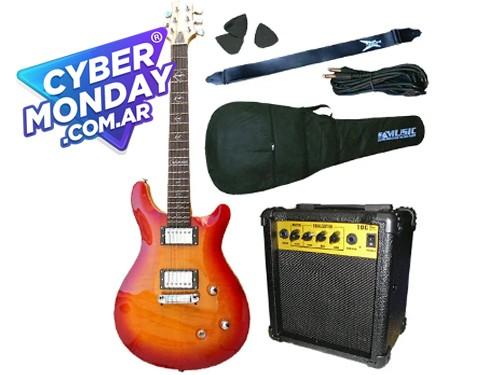 Combo Guitarra Electrica Crimson Santana Seg268 Cs Garantia