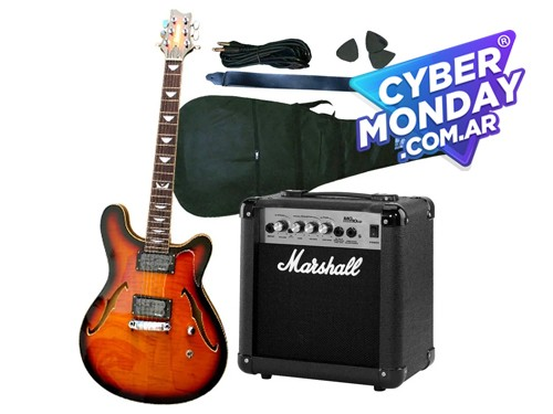 Guitarra Crimson Seg262 + Ampli Marshall Mg10 + Acc