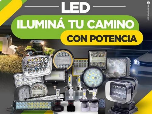Faro Auxiliar 9 LED Redondo 27w Agro 4x4 Moto Camión 12v-24v